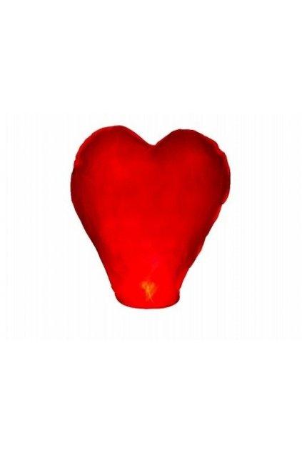 Létající lampion štěstí - srdce - větší