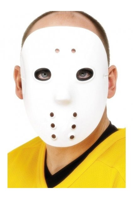 Bílá maska Jason - hokejová