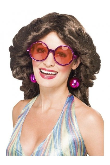 Brýle a naušnice - disco set