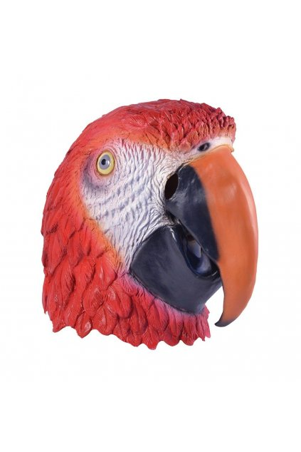 Gumová maska - papoušek