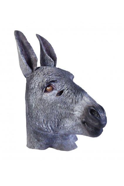 Gumová maska osla