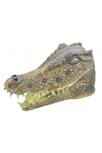 Gumová maska krokodýla