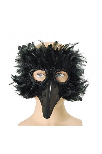 Maska černý pták