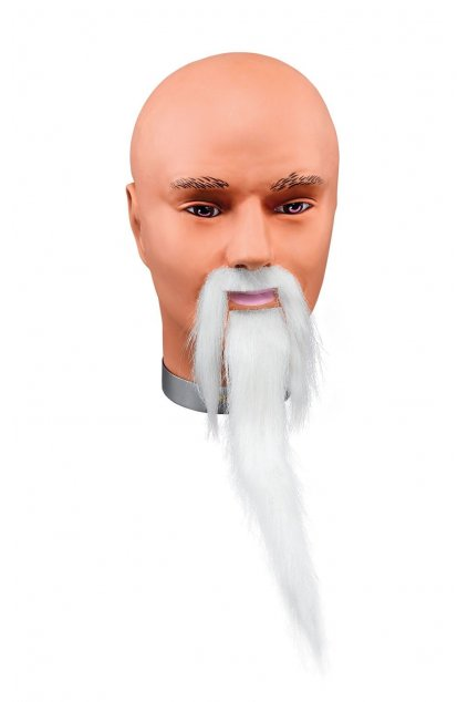 Knír s dlouhou bradkou - bílý