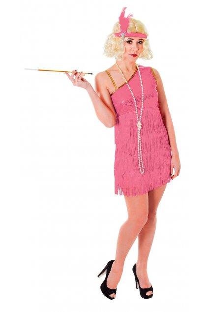 Charlestonová krasavice - růžové šaty