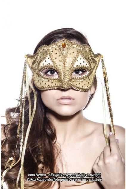 Luxusní maska zlatá