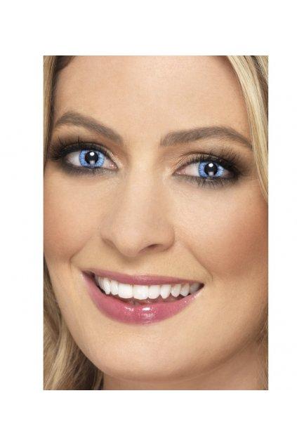 Modré kontaktní čočky - natural
