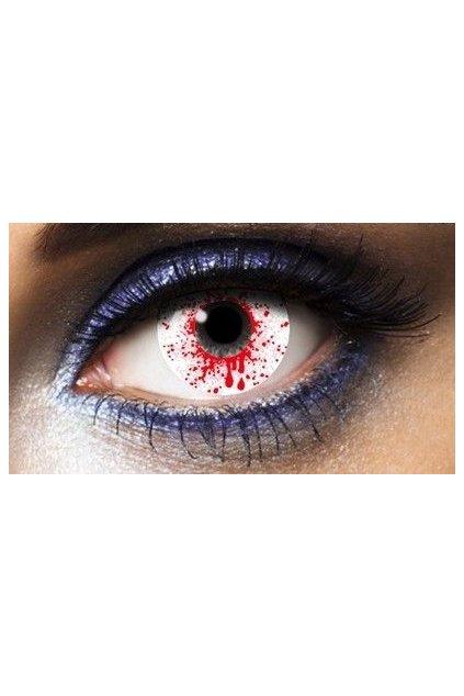 Krvavé oko - kontaktní čočky