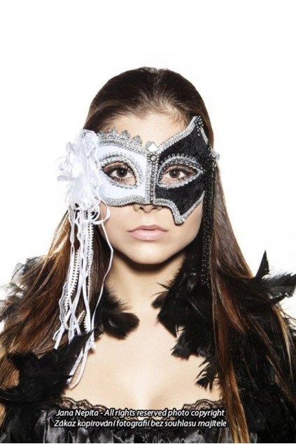 Maškarní maska - Black and White
