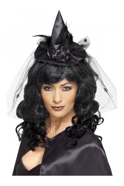Mini klobouk - Čarodějnice - černý