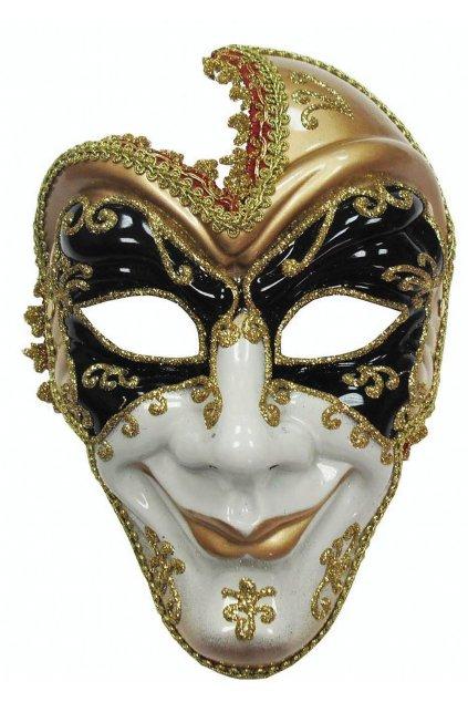 Benátská maska - škodolibá tvář