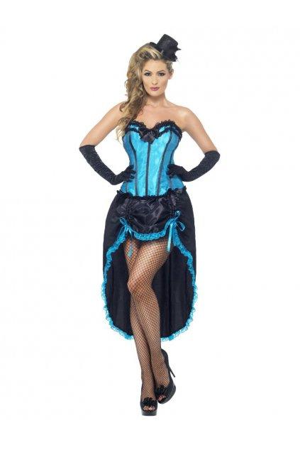 Kostým - Burlesque tanečnice - modrá