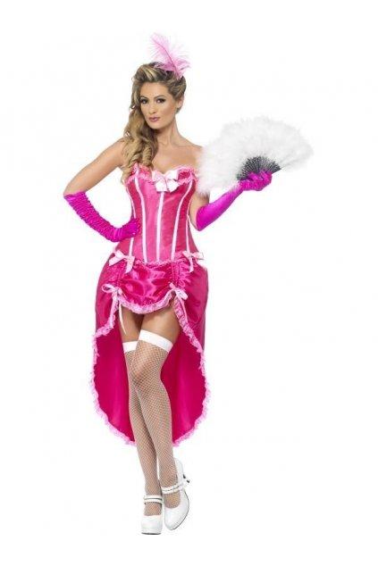 Kostým - Burlesque tanečnice - růžová
