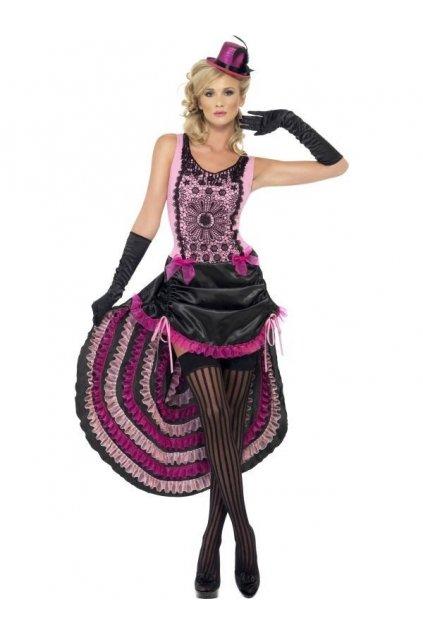 Kostým - Burlesque kráska - růžová