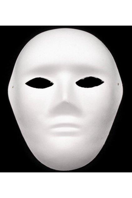 Karnevalová maska na obličej - bílá