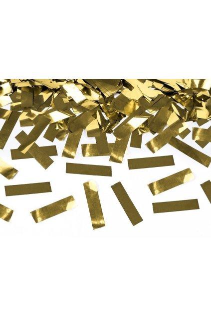 Vystřelovací konfety zlaté - 40cm