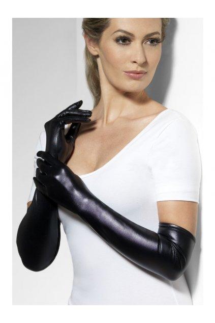 Rukavice dlouhé černé