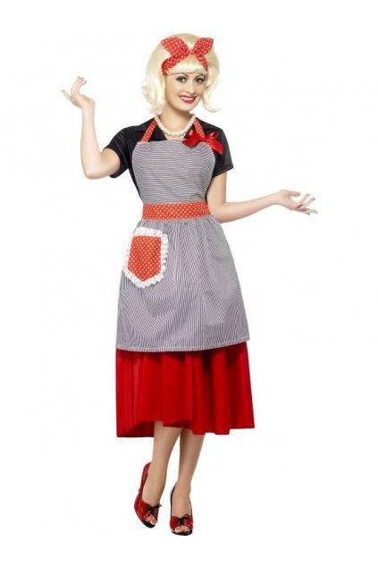 Dámský retro kostým - hospodyňka