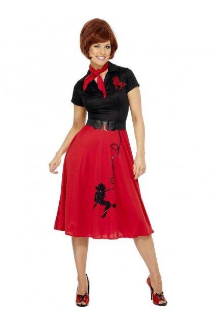 Kostým - Pudlík 50' - červený