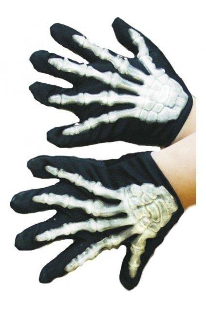 Dětské rukavice - kostlivec - vystupující kosti