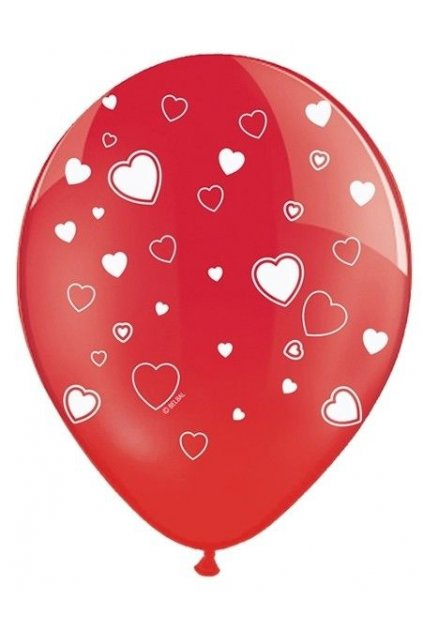 Nafukovací balónek srdíčka - 30 cm