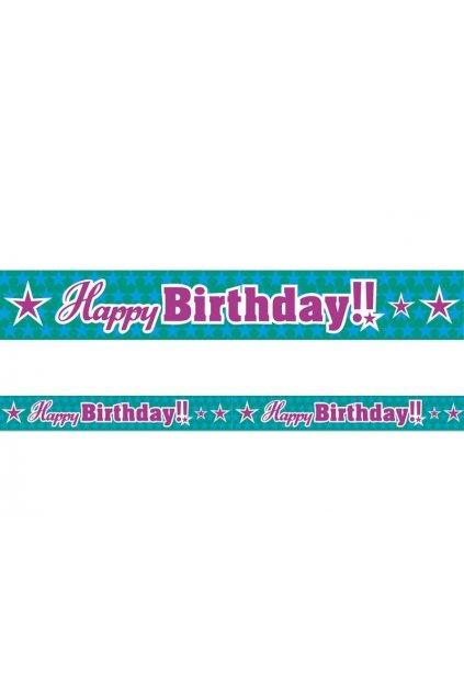 "Páska ""Happy Birthday"" - 6m"
