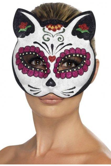 Maska Muerte - škraboška kočka