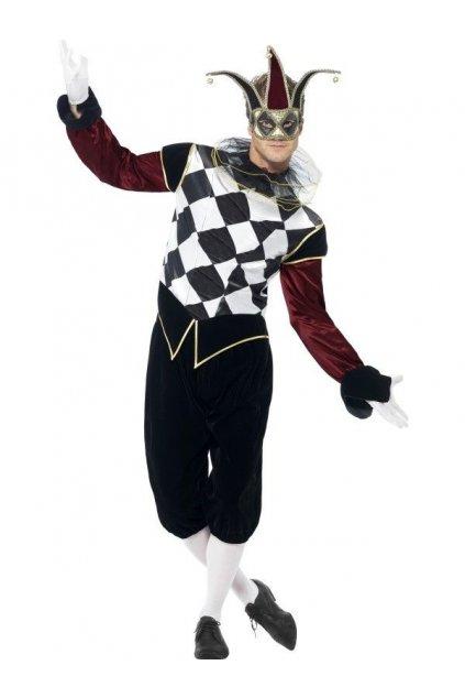 Kostým Benátský Harlequin