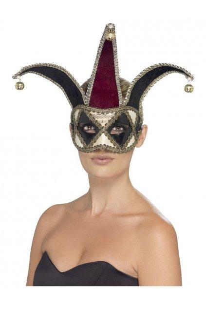 Gotická benátská maska Harlequin