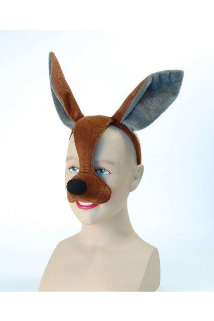 Maska hnědý zajíc