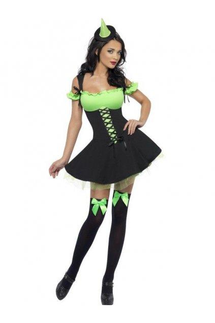 Kostým - Sexy čarodějnice - zelená