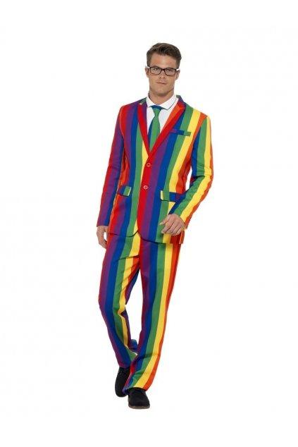 Duhový  pánský oblek