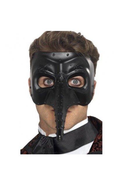 Černá Benátská maska