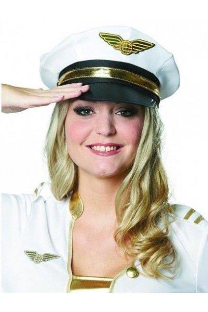 Kapitánská čepice - bílá