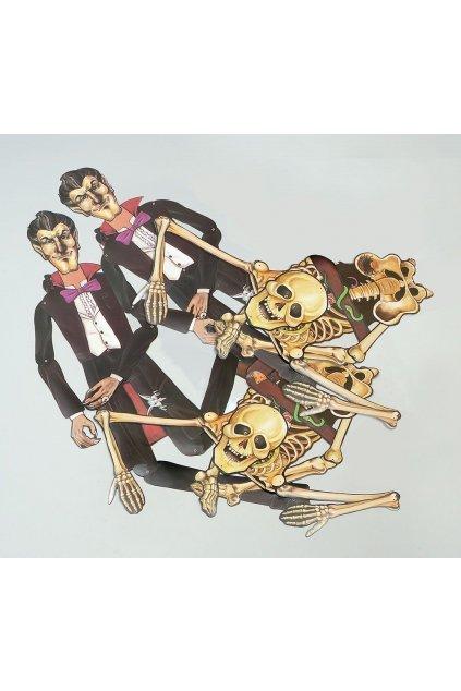 Halloweenská dekorace - kostlivec