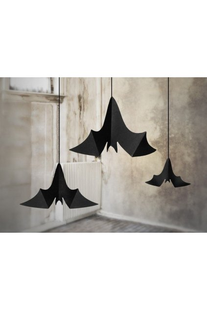 Dekorace - visící netopýři