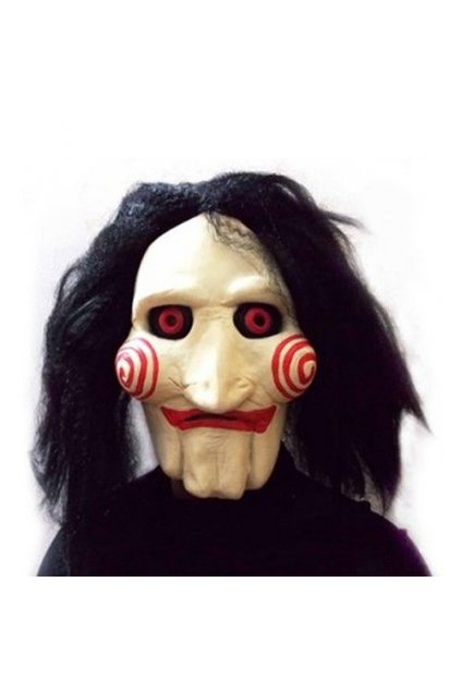 Latexová maska Saw - Jigsaw Puppet