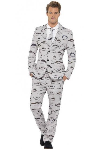 Pánský oblek - knírky