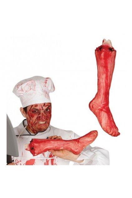 Utržená noha - krvavá