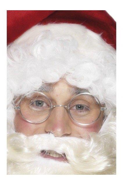 Stříbrné obroučky - kulaté brýle pro Santu
