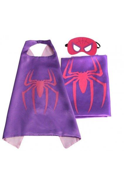 Kostým Spidermanka plášť s maskou