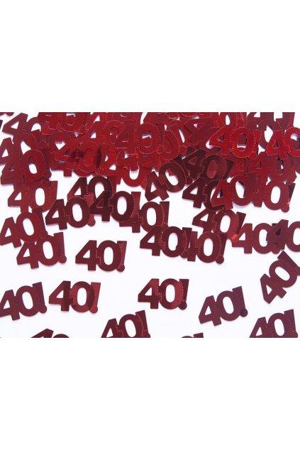 konfety 40. narozeniny