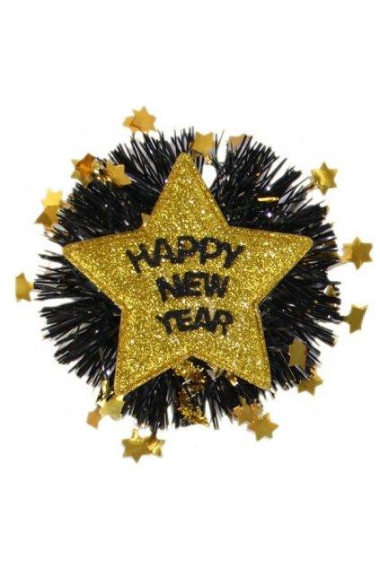 Brož happy new year zlatá
