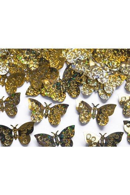Zlaté konfety - motýli