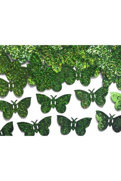 Párty konfety - zelení motýli