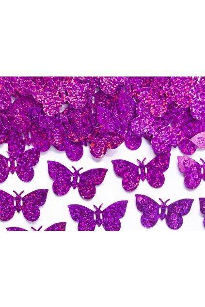 Růžové párty konfety - motýli