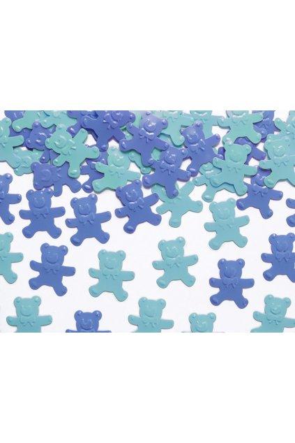 Modré konfety - medvídci