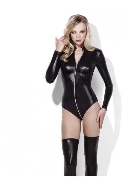 Latexové body černé - Miss Whiplash
