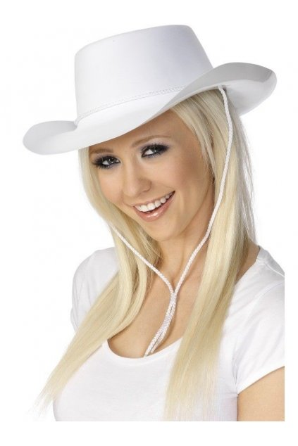 Klobouk Kovboj - bílý