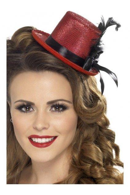 Mini klobouček červený